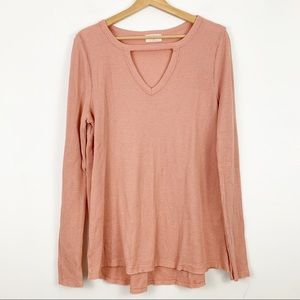Anthropologie T.La Waffle Thermal Cut Out M Coral
